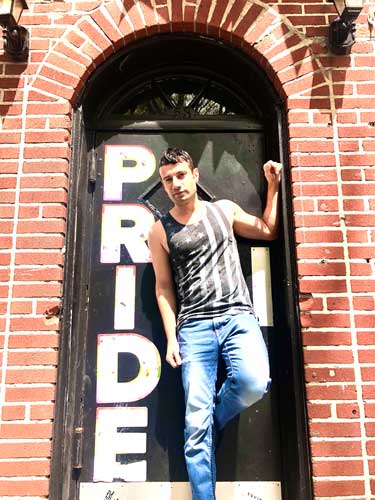 Joey in front of Stonewall Inn9